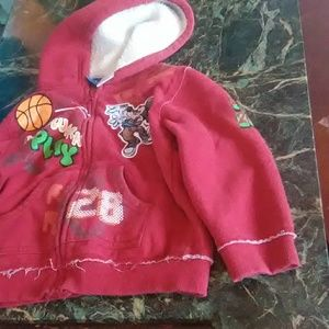 Disney Red Hooded Coat 3T